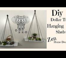 diy dollar hanging shelves