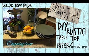 DIY Rustic Tabletob Riser/ Dry Erase  Board