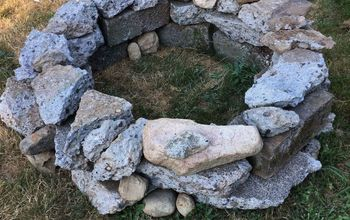 free recycled concrete fire pit