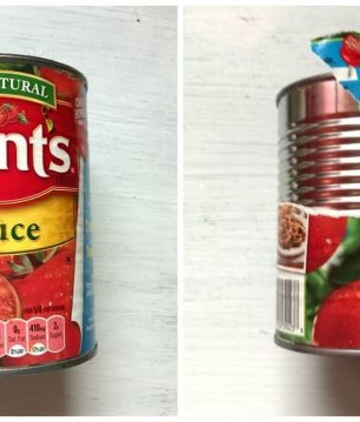 s transform tuna cans into gorgeous lighting in 9 simple steps, Step 1 Clean cans and strip labels