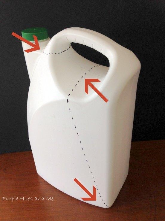 recycle plastic jug garden scoop diy