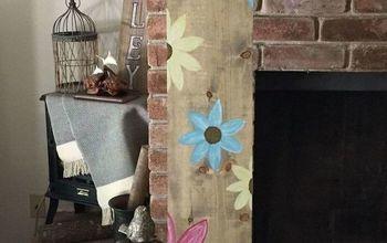 Wooden Flower Sign- Flower Power