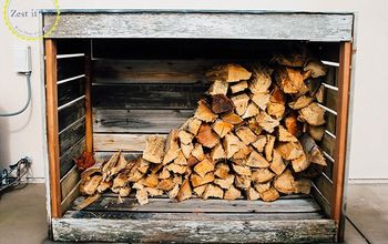 Rustic Firewood Storage Shed
