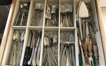 how i made a custom kitchen silverware drawer organizer