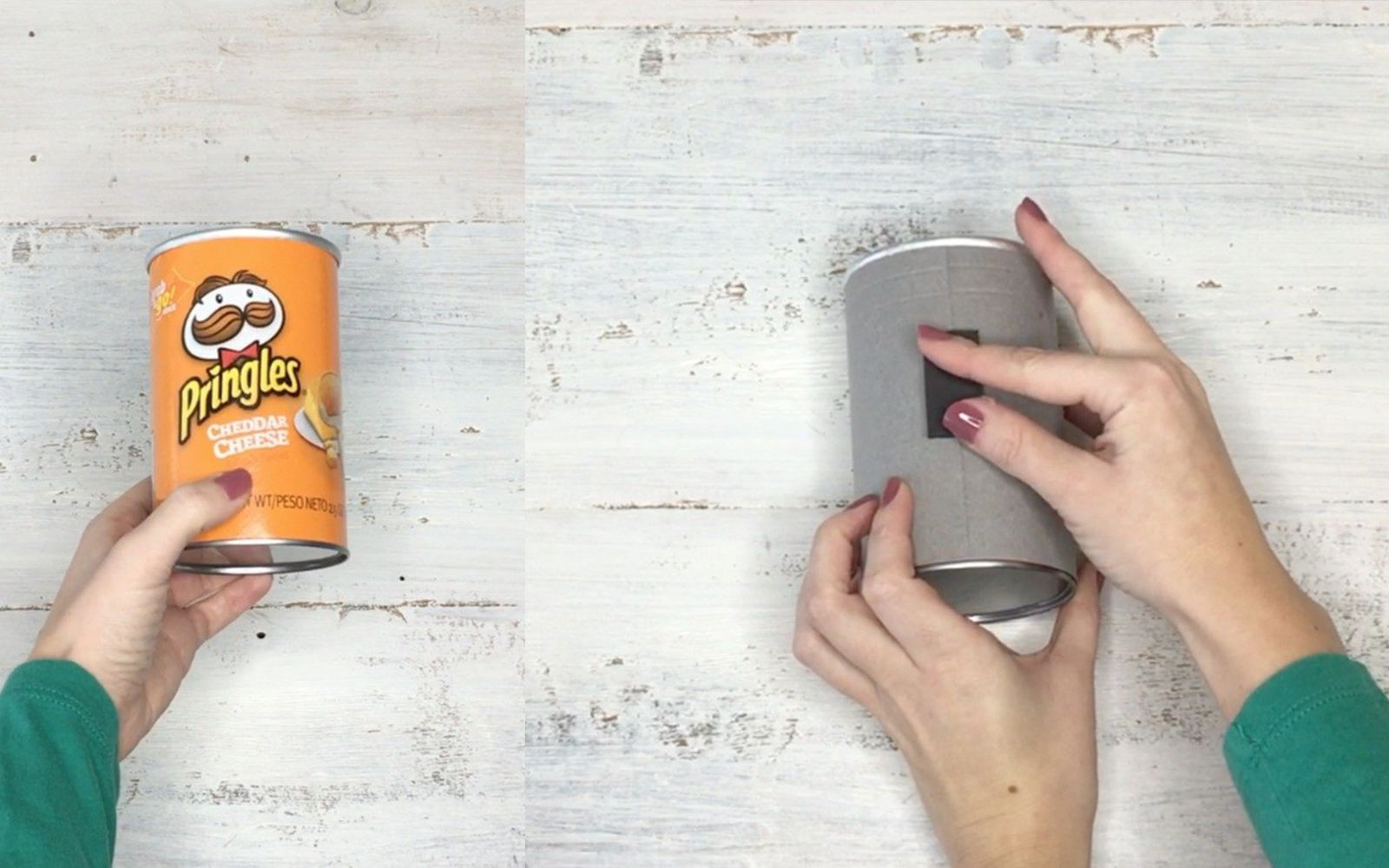 s transform tuna cans into gorgeous lighting in 9 simple steps, Hack 3 Cover in paper add magnet