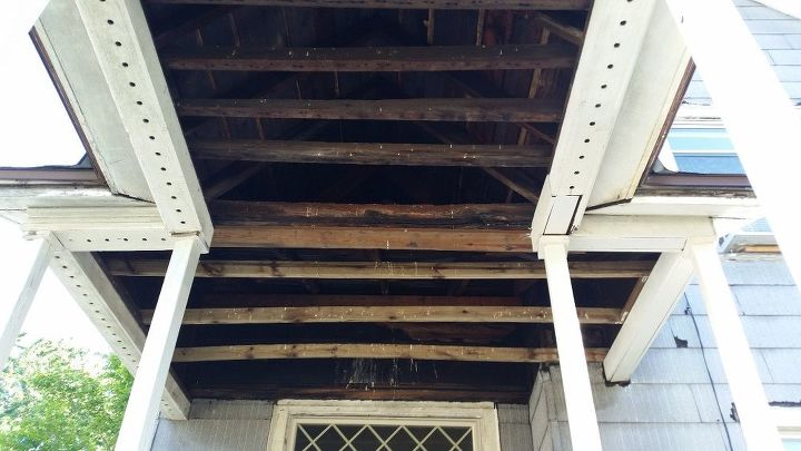 q how do i put a ceiling on my front porch it is co