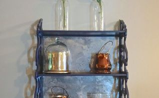 flea market furniture flip small hanging shelf