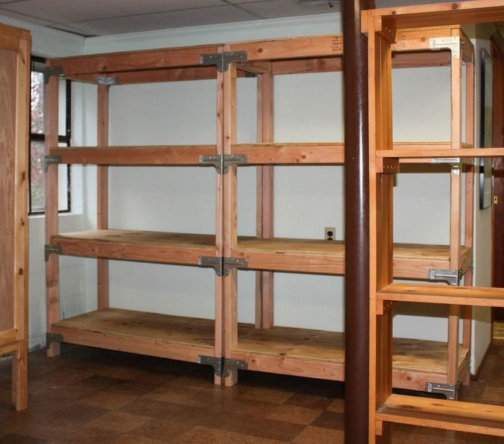 Strong Homemade Wood Storage Basement Shelves Diy Project: DIY 2x4 Shelving Unit