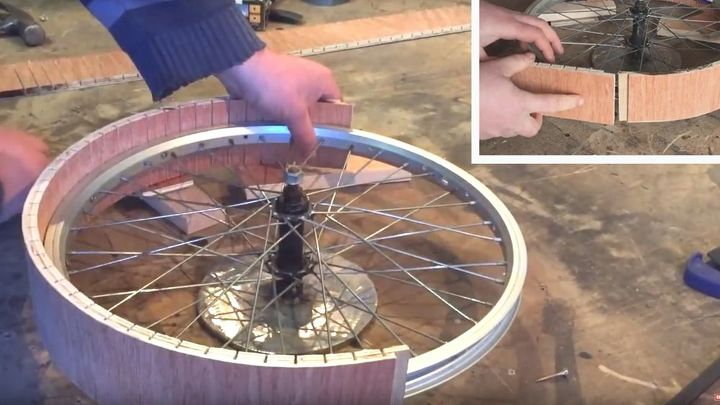 how to make a lazy susan using a bicycle wheel