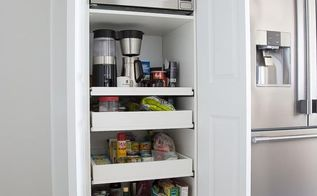 hideaway coffee bar microwave station diy