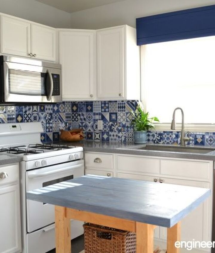 budget rental kitchen remodel that is easily reversible