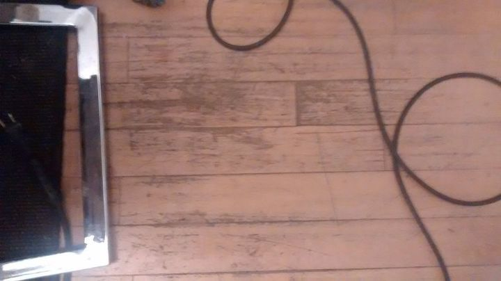 Scratches and water mess on hardwood floore