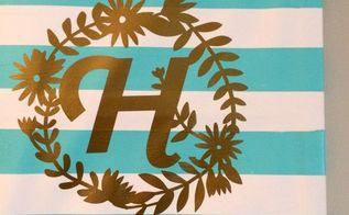 floral monogram wall art