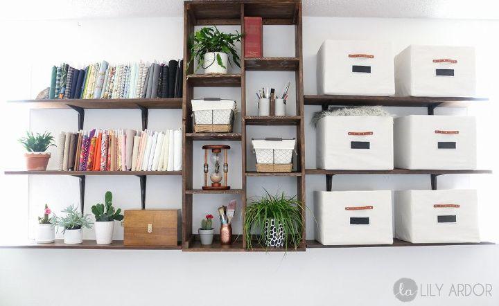 custom built in shelves