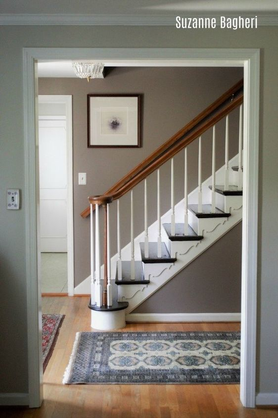 dark chocolate painted staircase makeover