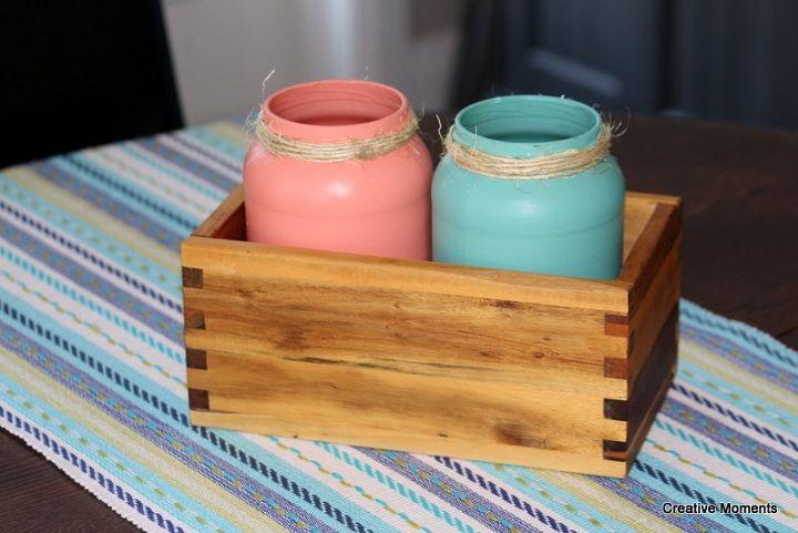 fun and colorful mason jars
