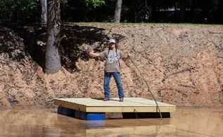 a floating deck for your pond