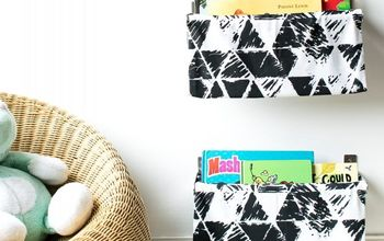 IKEA HACK: 10 MINUTE FABRIC BOOK SLINGS