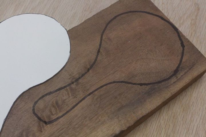 hand carve a walnut coffee scoop