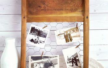 broken washboard photo holder