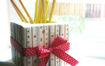 make an easy pencil holder with rulers