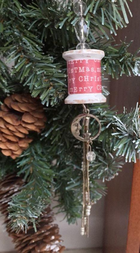 wood spool ornament