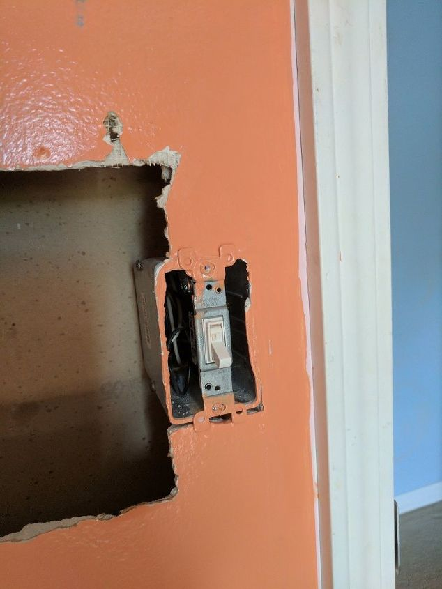 q how can i repair the drywall by this switch