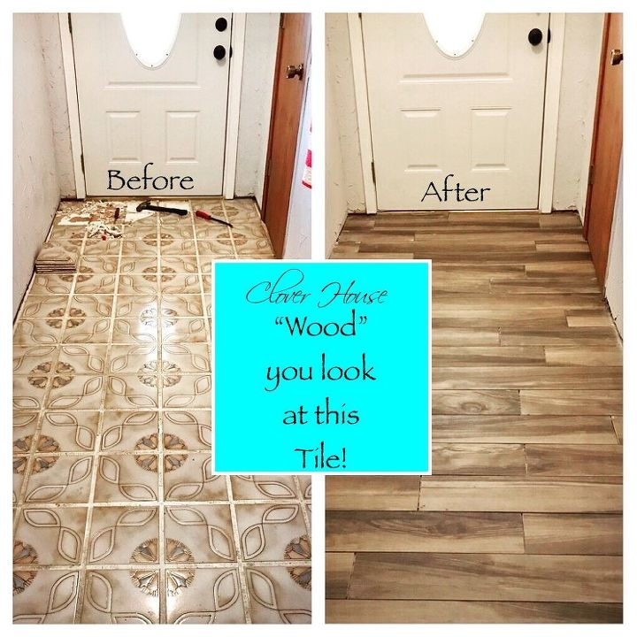 Homeowner Hates Her Entryway Floorlook How Incredible It Is After