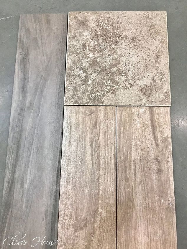 porcelain wood look tile floor