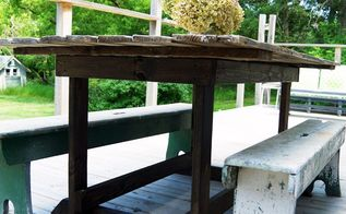 barn door table simple diy for our deck