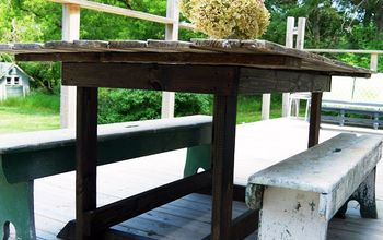 Barn Door Table, Simple DIY for Our Deck!