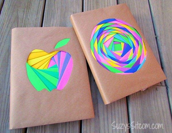 iris folded book covers