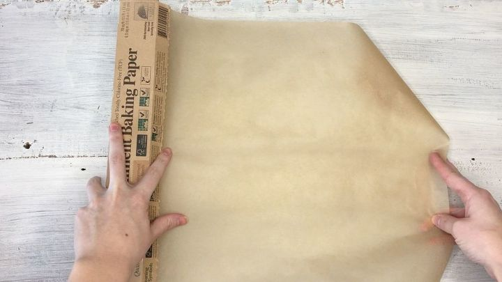 s how to make hot glue placemats more crafts ideas, Step 1 Grab some parchment paper