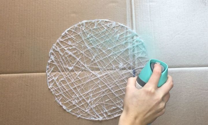 s how to make hot glue placemats more crafts ideas, Step 5 Spray paint