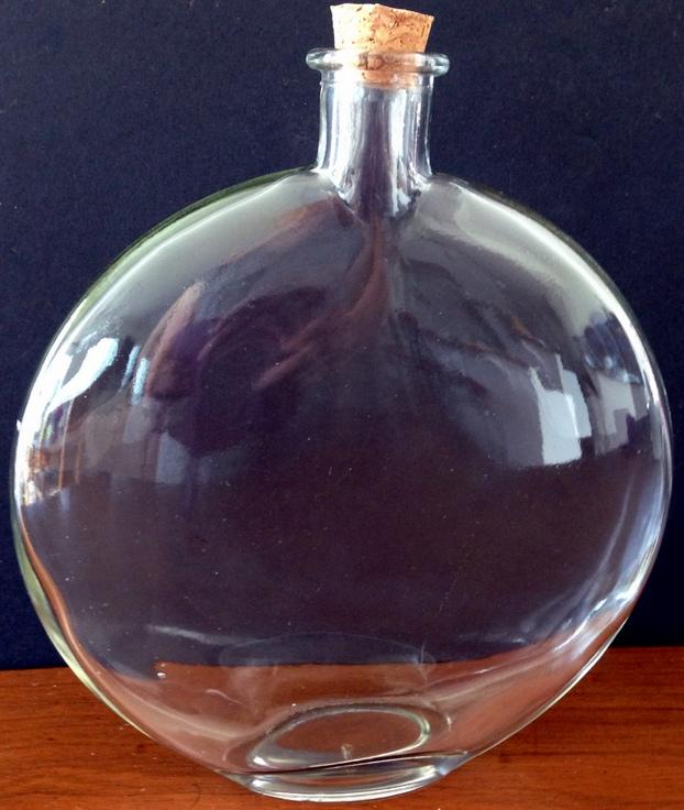 reverse decoupage bottle with decorative napkinsbeachy items