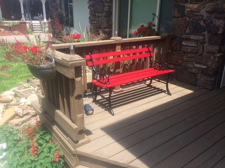 Add Some Hidden Solar Lights To A Bench Hometalk