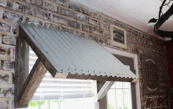 DIY $10 Corrugated Metal Awning