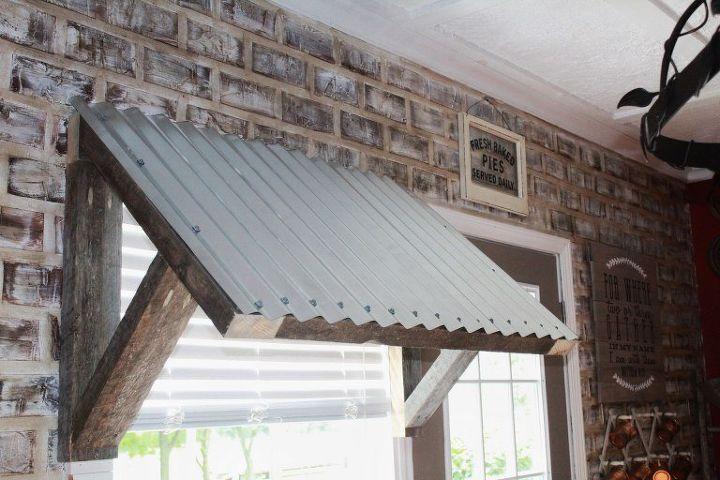 Diy 10 Corrugated Metal Awning Hometalk
