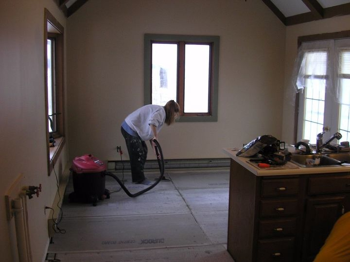 Replacing Kitchen Floor. Fabulous Cabinets Awesome How To Install ...