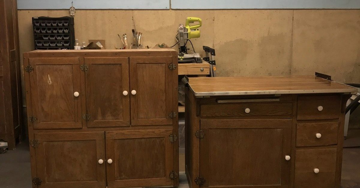 Hoosier Cabinet Made Into A Coffee Bar Hometalk