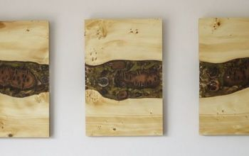 Wood & Resin Triptych (Wall Art)