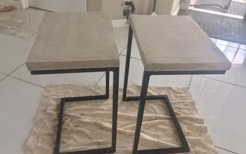 faux concrete countertop coffee and end table