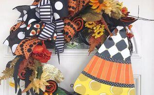 halloween candy corn wreath