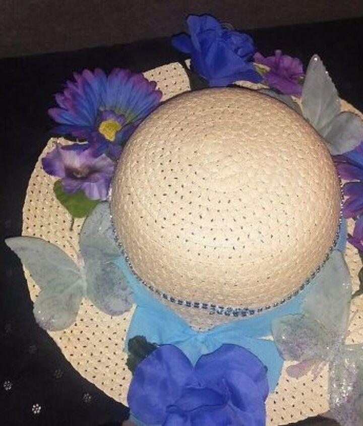 dollar store straw hat wreath