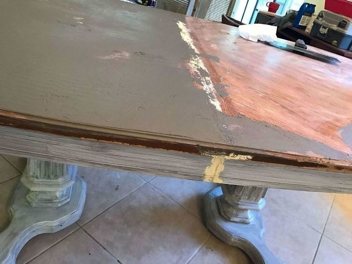Original: Glued/spackled closed table