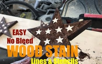 Easy No Bleed Wood Stain Lines and Stencils