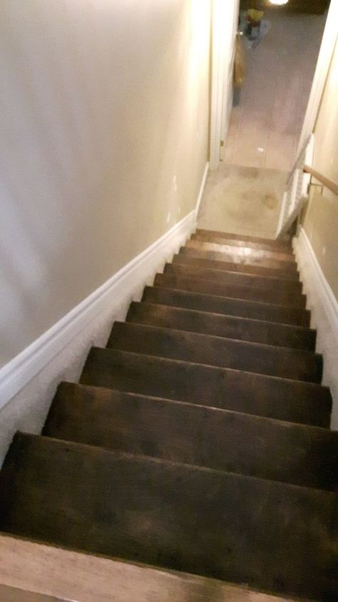 q should i hardwood stairs going to basement or just redo stain