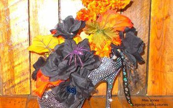 Halloween Centerpiece Witch's Stiletto