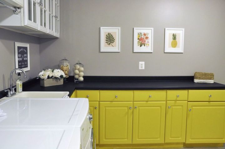 bright and cheery laundry room makeover for 200
