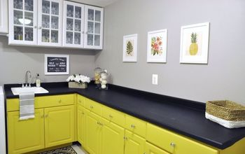 $200 Bright and Cheery Laundry Room Makeover